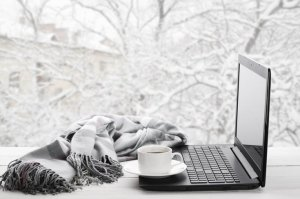 computer in the snow istock