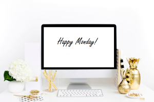 Happy Monday desk writing jobs