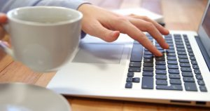 typing coffee writingjobscanada